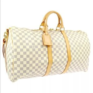 LOUIS VUITTON KEEPALL 55 BANDOULIERE DAMIER AZUR